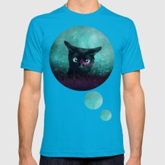 Curiosity Mens Fitted Tee Teal SMALL