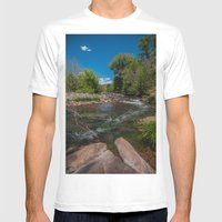 Somewhere Mens Fitted Tee White SMALL