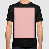 Spanish pink Mens Fitted Tee Tri-Black SMALL