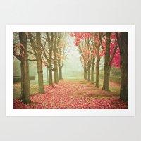 Scarlet Autumn Art Print