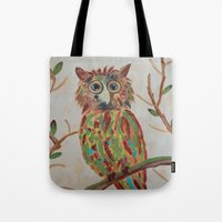 The Owl Of Colors Tote Bag