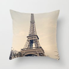 Good Morning Paris Throw Pillow
