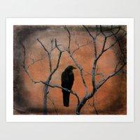 Nature Blackbird Art Print