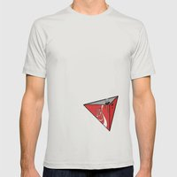 COLA CAN Mens Fitted Tee Silver SMALL
