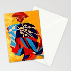 japanese men in traditional clothes Stationery Cards