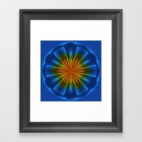 Blue Orb Framed Art Print