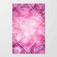 Hard Line Heart Bokeh Canvas Print
