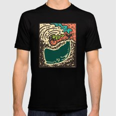 Whale Mens Fitted Tee Black SMALL