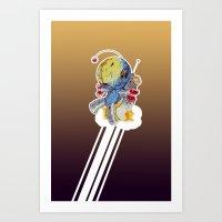 Rocket Bot Art Print