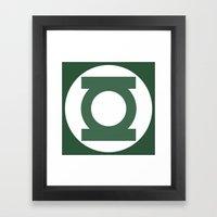 Green Lantern Vector Log… Framed Art Print