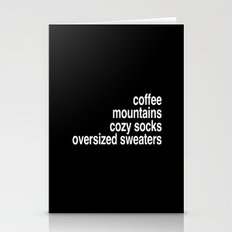 Coffee, Mountains, Cozy … Stationery Cards