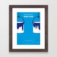 No427 My Home alone minimal movie poster Framed Art Print