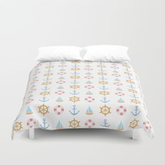 The Essential Patterns of Childhood - Sailing Duvet Cover