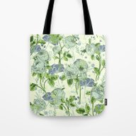 Tote Bag featuring Soft Floral by Clemm