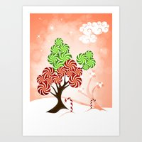 Magic Candy Tree - V1 Art Print