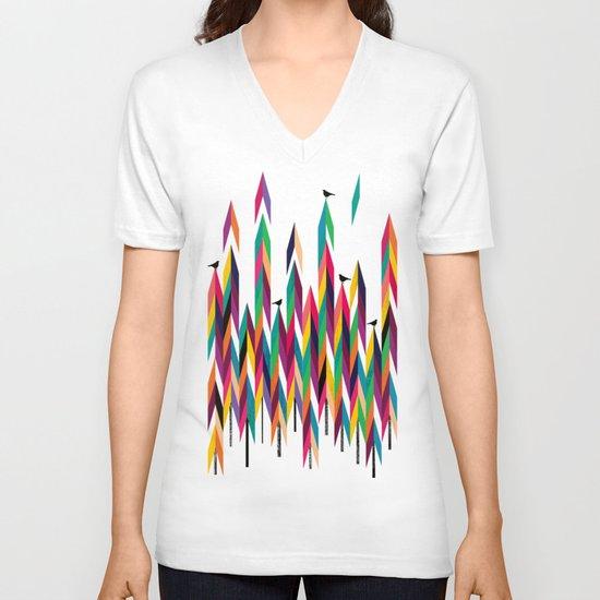 Pine trees V-neck T-shirt