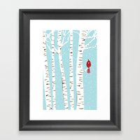Winter Cardinal Wall Art… Framed Art Print