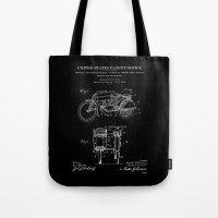 Motorcycle Sidecar Patent 1912 - Black Tote Bag