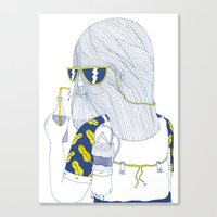 Summer Monster Canvas Print
