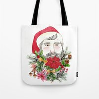 Santa Stuffed Beard Tote Bag