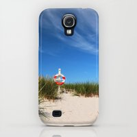 Galaxy S4 Cases featuring Dunes at the beach by UtArt