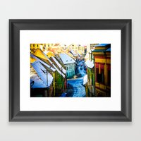 Street Scene In Sibiu, R… Framed Art Print