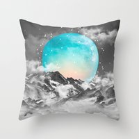 Throw Pillow featuring It Seemed To Chase the Darkness Away (Guardian Moon) by soaring anchor designs