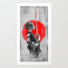 Samurai Girl Art Print