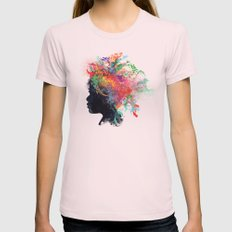 Wildchild Womens Fitted Tee Light Pink SMALL