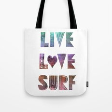 Live Love Surf - I Tote Bag