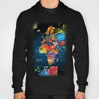 World Map Black Backgrou… Hoody