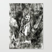 Dream view serie - Forest meeting III Canvas Print