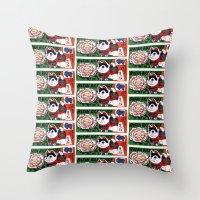 Botan Rice Candy Meow Throw Pillow