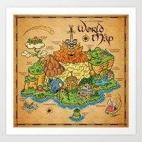 World Map - Mario RPG Art Print