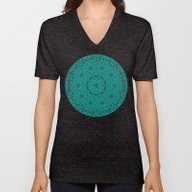Unisex V-Neck featuring Beautiful Mandala In Tea… by Wendy Townrow
