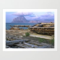 Old Port of Trapani on the Isle of Sicily Art Print