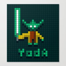 Yoda by Qixel Canvas Print