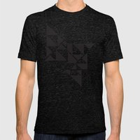 Triangle Angles Mens Fitted Tee Tri-Black SMALL