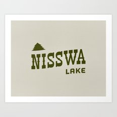 Nisswa Lake Art Print