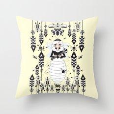 Lady Honey Throw Pillow
