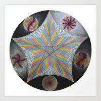 Galactic Pentagram (ANAL… Art Print