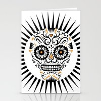 Sugar Skull SF - white Stationery Cards
