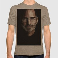 Steve Jobs Mens Fitted Tee Tri-Coffee SMALL