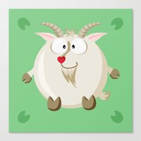 Goat from the circle series Canvas Print