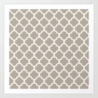 Gray Clover Art Print