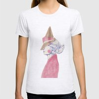 A Touch Of Pink Womens Fitted Tee Ash Grey SMALL