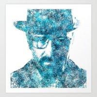 Walter White Made Of Sky… Art Print