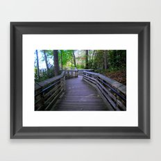 Crooked Paths Look Straighter As We Approach The End Framed Art Print