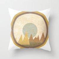 Moon & Mountains Throw Pillow