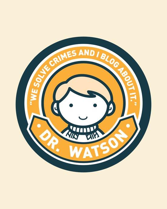 Cute John Watson - Orange Art Print